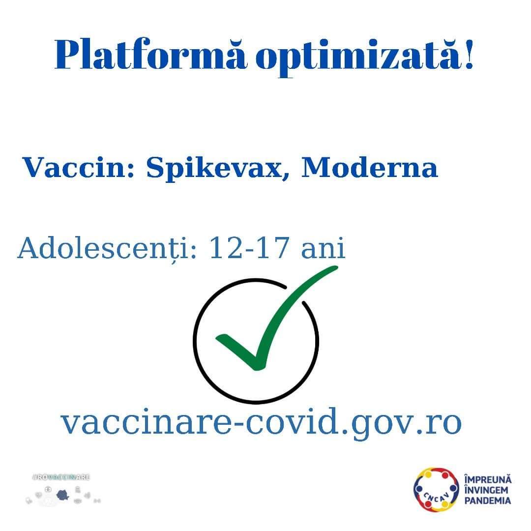 Tinerii cu vârste între 12 și 17, Tinerii cu vârste între 12 și 17 ani pot fi vaccinați cu Spikevax (Moderna), Stiri Turda - MinaDeStiri