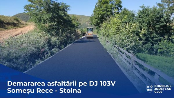 Tronsonul Somesu Rece-Stolna., Strat de covor asfaltic asternut pe tronsonul Somesu Rece-Stolna., Stiri Turda - MinaDeStiri
