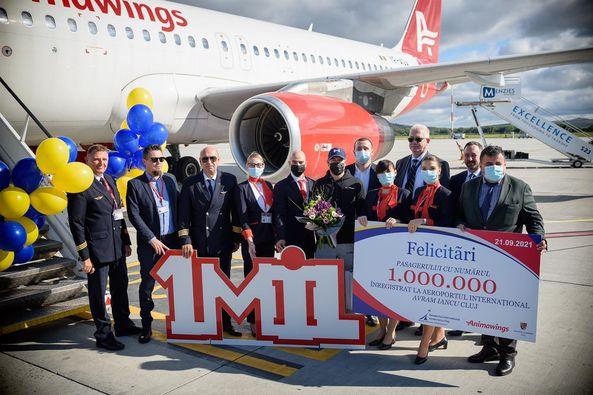 Pasagerul cu numarul 1 milion sarbatorit pe Aeroportul International Avram Iancu.