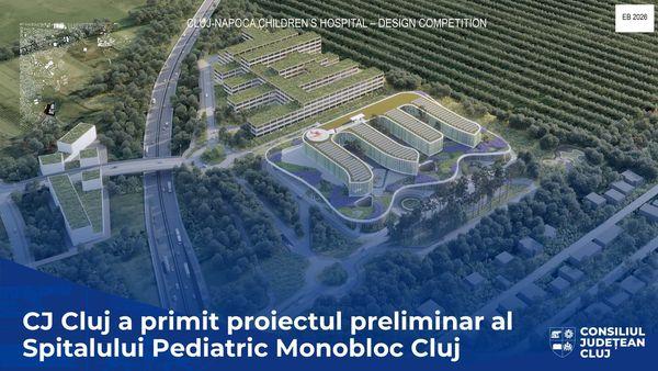 Edificarea Spitalului Monobloc de la Cluj evolueaza in ritm rapid.