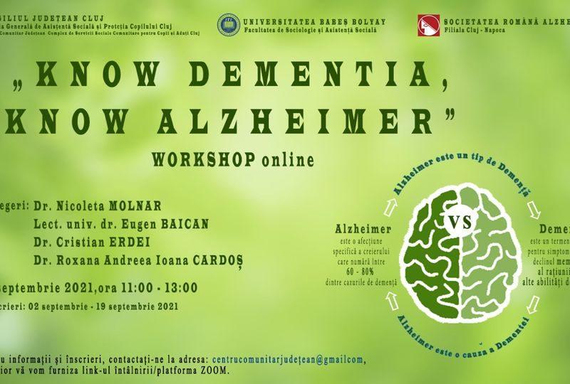 Boala Alzheimer in atentia Consiliului Judetean-Ziua Internationala Alzheimer la DGASPC Cluj.